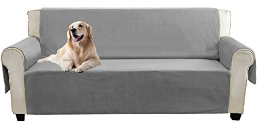 Reclining Sleeper Sectional (YEMYHOM Real Non-slip Pet Dog Sofa Covers Protectors with Waterproof Flannel Fabric (Sofa XL, Gray))