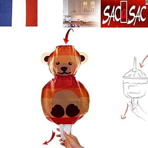 Rentrez les sacs plastiques par le haut et.. Fab Sac /à Sacs Lapin tirez les un /à un par le bas...37 X 10 X 18 cm France
