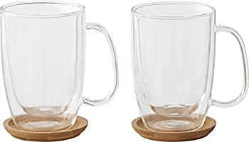 2-Pk.Caribou Double-Wall Coffee Mugs