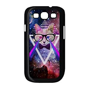 linJUN FENGGalaxy Hipster Cat Use Your Own Image Phone Case for Samsung Galaxy S3 I9300,customized case cover ygtg550410