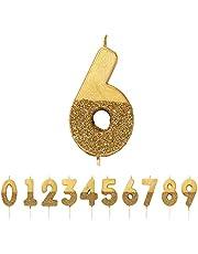 Talking Tables Verjaardagskaars taartopzetstuk hoogte 8 cm 7,6 cm goud