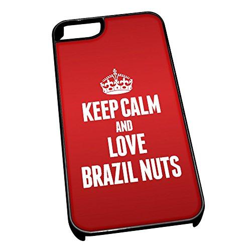 Nero cover per iPhone 5/5S 0859Red Keep Calm and Love Brazil titanio