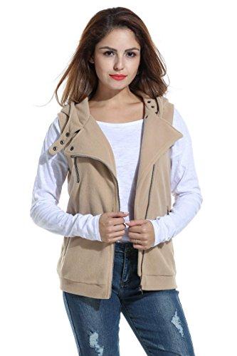 Long Sleeve Polar Fleece Top - Bifast Regular Plus Size Light Weight Polar Fleece Vest Jackets