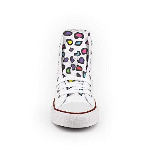 Converse All Star Personnalisé et Imprimés - chaussures à la main - produit Italien - High Leopard
