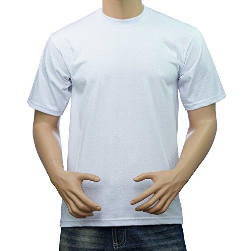 T-shirt Club White (Pro Club Men's Heavyweight Cotton Short Sleeve Crew Neck T-Shirt (White, 3X-Large))