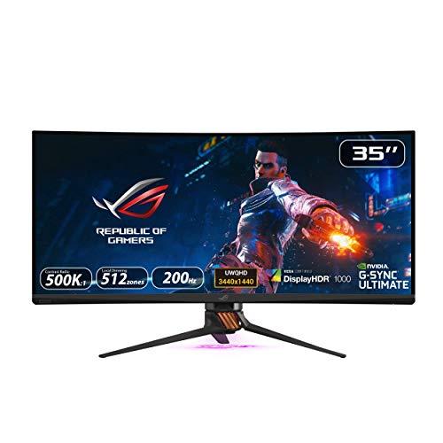 "Asus ROG Swift PG35VQ – Monitor curvo Gaming de 35"" WQHD (3440 x 1440, 240 Hz, 4 ms, 16:9, HDR, 21:9, 200 Hz, G-Sync…"