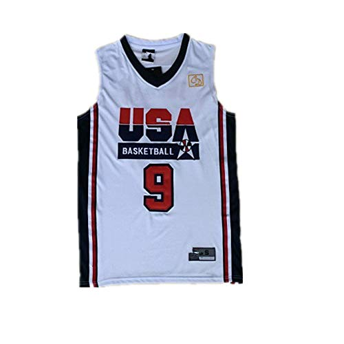 No 9_Michael_Jordan_USA_Olypics_Dream_One_Jersey White -Mens (L)