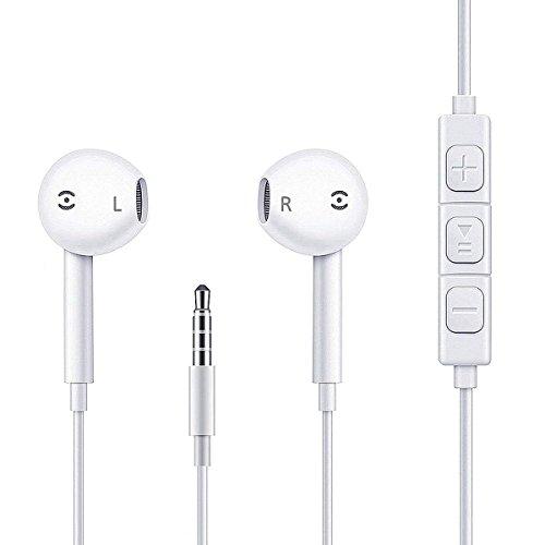Earbuds, iPhone Headphones with Microphone New Earphones for iPhone 6s 6 Plus 5s 5 5c 4s 4 iOS 7 8 X iPad 1 2 3 Earpods Earbuds Earphones
