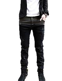 Hot Mens Jeans Skinny Straight Fit Pencil Pants Feet Trousers Fashion Korean