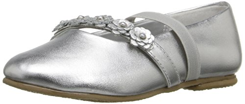 Jumping Jacks Charm Ballet Flat (Toddler/Little Kid/Big Kid), Silver/Metallic, 7.5 M US Toddler