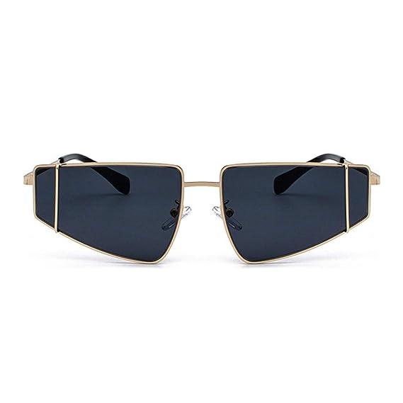Moda Gafas De Sol con Montura Pequeña De Metal Dorado ...
