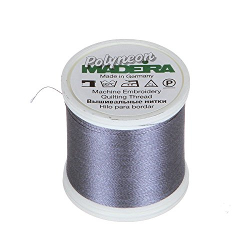 Madeira 9845-1840 2 Ply Polyneon Polyester Embroidery Thread, 40wt/135d 440 yd, Steel