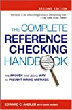 The Complete Reference Checking Handbook, Edward C. Andler and Dara Herbst, 0814407447