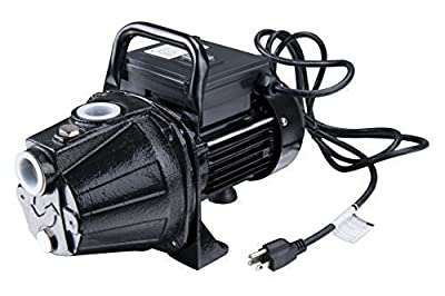 Lanchez JGP8005HT 1/2 HP 845GPH Portable Cast Iron Utility Shallow Well Jet Pump for Clean Water to 25 Feet