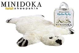 Genuine Sheepskin Polar Bear Play Rug by Minidoka Sheepskin