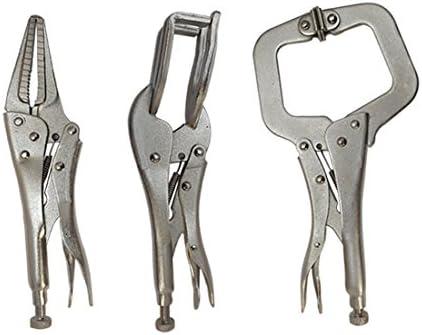 3pc Locking Grip Welding Clamp Vise C-Clamp Sheet Metal Clamp Plier Tool Set