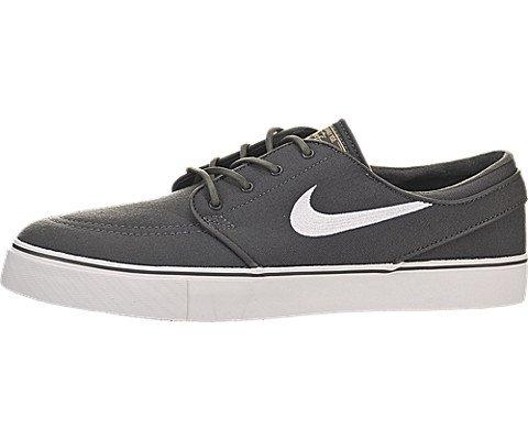 huge selection of 2f8b9 f8a61 Galleon - Nike Mens Zoom Stefan Janoski Cnvs Drk Gry White Gm Lght Brwn Mtl  Skate Shoe 9 Men US