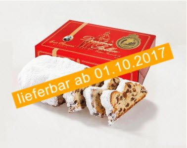 Emil Reimann Dresdner Stollen 'Church of our Lady' in Red Gift Tin - 500g (Red Gift Tin)