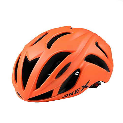 Gonex Wind Mask Bike Helmet for Adult, Orange