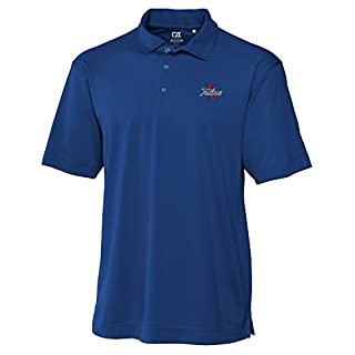 Cutter & Buck NCAA Tulsa Golden Hurricane Men's Genre Polo Tee, Large, Tour Blue
