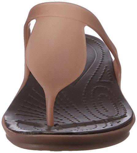 Crocs Mujeres Rio Flip Bronze / Espresso