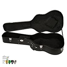 ChromaCast Acoustic Dreadnought Hard-Shell Case with Pick Sampler