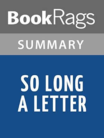 amazoncom summary study guide so long a letter by With so long a letter ebook