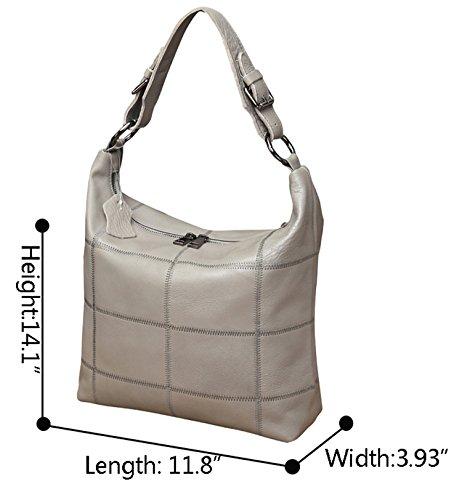 Women Bag Bag Gray Handbag Cross Vintage Shoulder Satchel Hobo Bag Purse Body Iswee Light Leather BdZwqCC