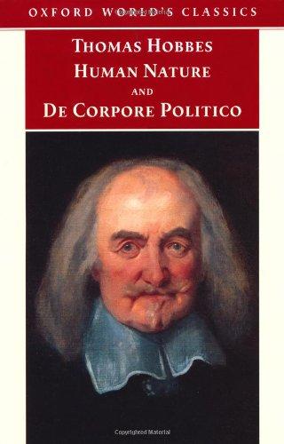 Human Nature and De Corpore Politico (Oxford World's Classics)