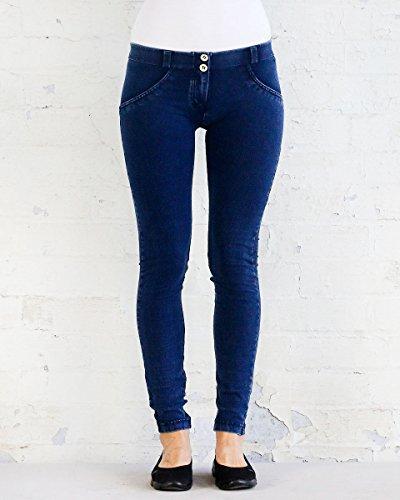 cuciture UP® Blu WR Scuro FREDDY Jeans Jeans Donna modellanti aderenti OqO8v1w7