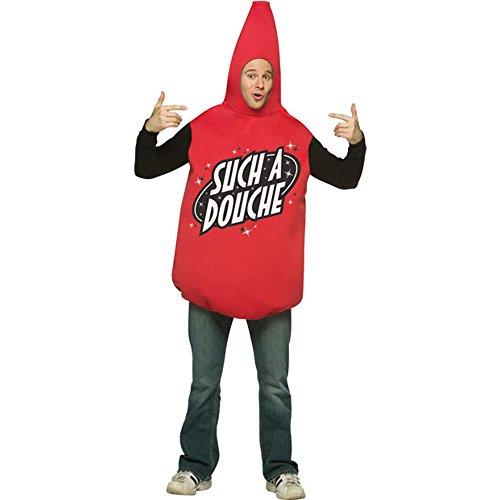 Adult Men's Douche Bag Halloween Costume red