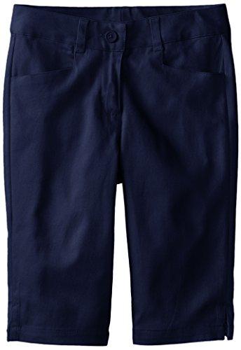 KHQ Big Girls' Stretch Twill Skimmer Short, Navy, 8