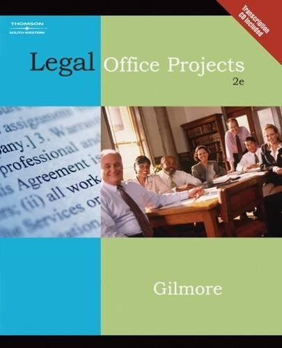 Legal Office Projects (with CD-ROM) (Legal Office Procedures)