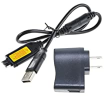 EPtech USB AC Power Adapter Camera Battery Charger for Samsung ST61 ST65 ST70 PL120