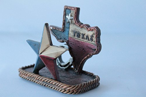 (Colors of Rainbow Texas Map Lone Star Business Cards Holder Rustic Home Office Decor )
