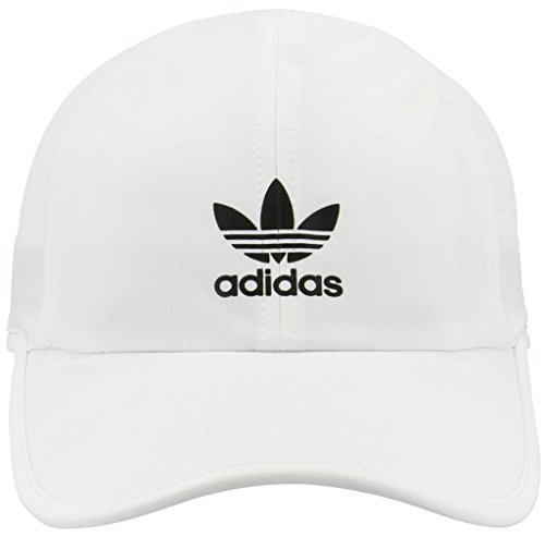 adidas Women's Originals Trainer II Relaxed Cap, White/Black, One Size