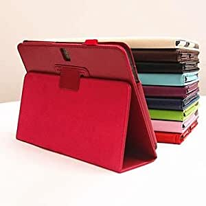 TOPQQ Leather Case with Stand and Pen Holder for Samsung Tab Pro 10.1 T520(Assorted Colors) , Dark Blue