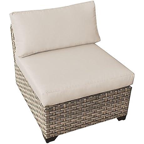TK Classics TKC015b AS DB Monterey Armless Sofa 2 Per Box With 1 Cover In