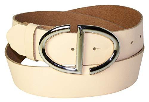 4 In Alta Conveniente Donna Fibbia Cm Argento Vera 17880 Cintura Con Pesca Articolo Elegante Da Fronhofer Pelle IS8x8