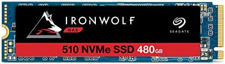 Seagate IronWolf 510 480GB NAS SSD Internal Solid State Drive – M.2 PCIe for Multibay RAID System Network Attached Storage, 3 Year Data Recovery (ZP480NM30011)