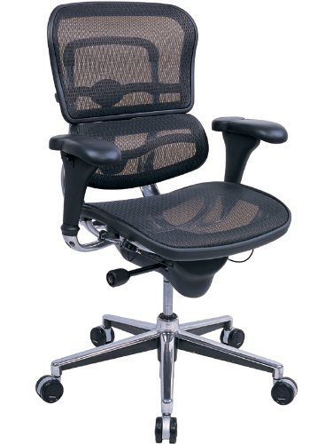 - Ergohuman ME8ERGLO-W09-01W09-01 Black MeshMid-Back Swivel chair