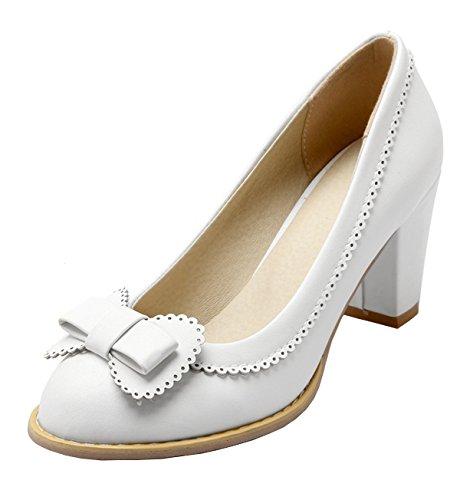 Ye Damen Chunky High Heels Pumps Mit Bequem Blockabsatz Elegant