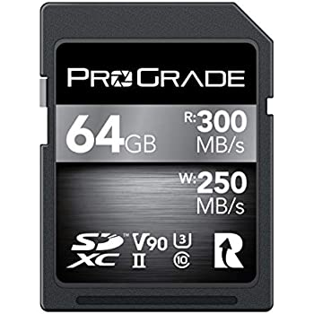 SD Card V90 (64GB) -Up to 250MB/s Write Speed and 300 MB/s Read Speed | for Professional Vloggers, Filmmakers, Photographers & Content Curators ...
