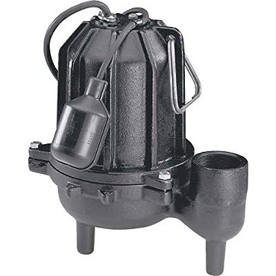 Wayne Cast-Iron Sewage Pump With Piggyback Tether Switch - WCS50T