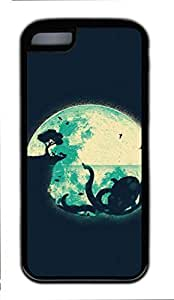 All Upon the Downtown Train Custom Design Back Protective Soft TPU Case for iphone 5C (8Art Painting) -80615