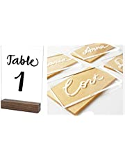 20 Laser Cut Clear Acrylic Blank Shapes for Wedding Welcome or Table Signs, Seating Place Cards & Numbers Guestbook Birthday Events DIY Calligraphy Lettering