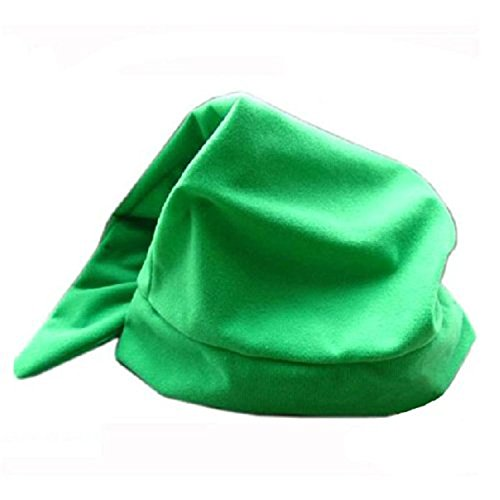 hiLISS Link Cosplay Green Hat Costume Dress up Pretend Play (Link Costumes Cheap)