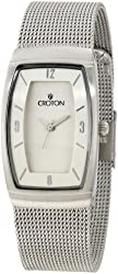 Croton Women's CN207316SSSL Aristocrat Silver Dial Mesh Stainless Steel Watch