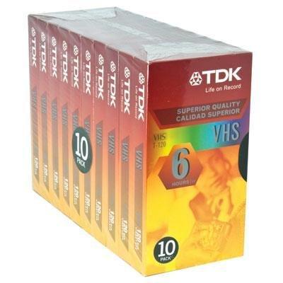 TDK 120 Minute Standard Video Tape (10-Pack)