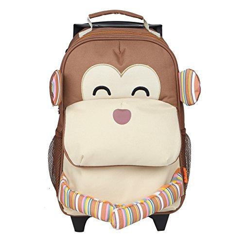 Yodo - Trolley per bambini 3-opzioni, utilizzabile come piccola valigia, zaino e trolley, ampia tasca anteriore, età 3+ anni, Multicolore Beige Multicolore 4-6 anni